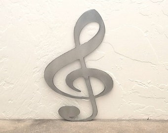 Treble Clef Note Sign Metal Wall Art Musician Decor Music Decor Musician Gifts Notes Wall Hanging Music Notes Decor Music Theme Music Room