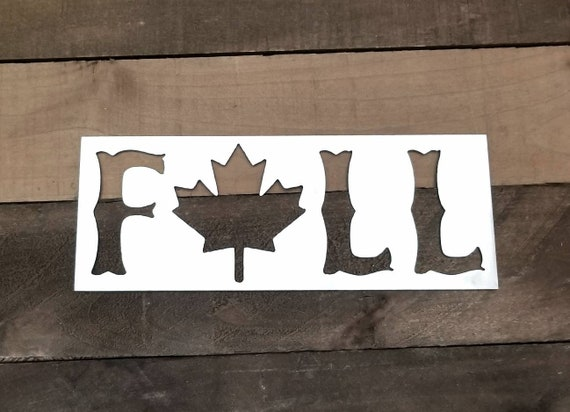 Fall Signs Metal Wall Decor Autumn Leaves Sign Fall Metal | Etsy