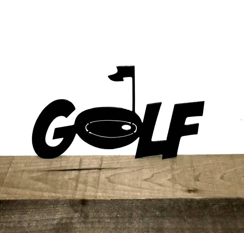 Golf Sign Metal Golf Decor Sports Gift For Golfers Golf Accessories Golf Art Sports Office Desk Accessories Sports Sign Christmas Golf Gift