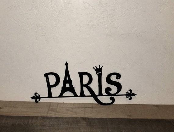 Paris Metal Wall Art Paris Decor Paris Accessories Bedroom Decor Paris Girl  Bathroom Decor Eiffel Tower Paris Gift Kitchen Decor Letters