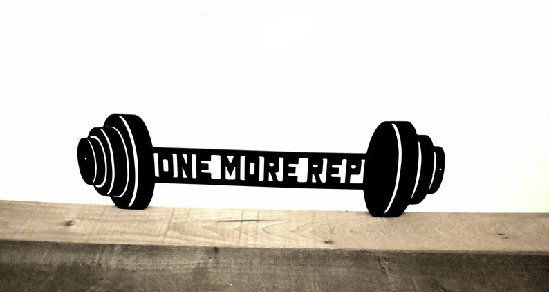 One more rep metal wall art gym decor home gym decals wall etsy