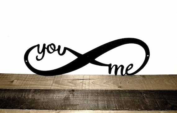 Infinity You and Me Metal Sign...