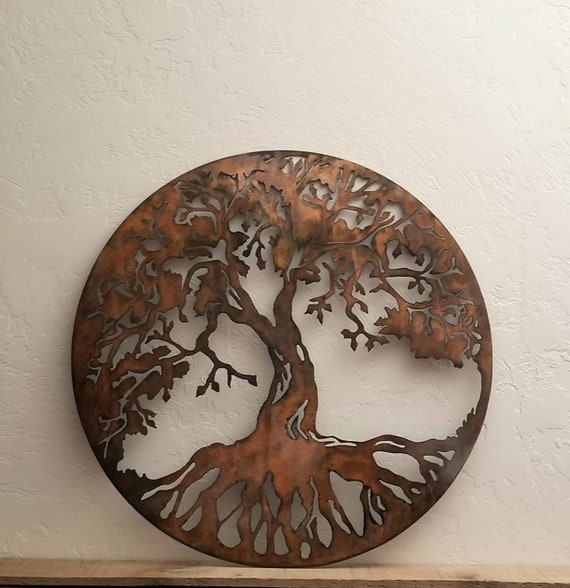 Tree of Life Metal Sign 2 FT Metal Wall Art Tree with | Etsy