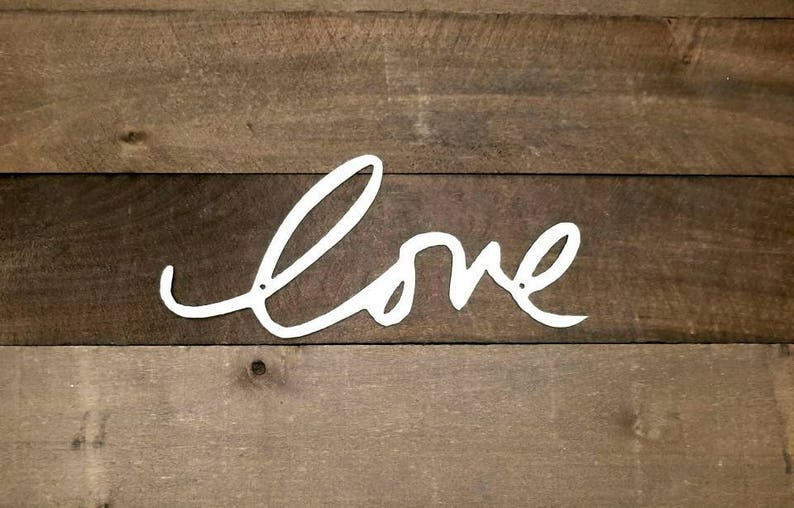 Love Metal Word Art Wall Decor Cursive Love Word Home Decor Love Sign  Wedding Decor Valentine's Day Gift Idea for Her Words for the Wall