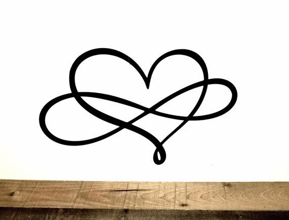 Metal Heart Infinity Sign Love Decor Wedding Gift Infinity Etsy