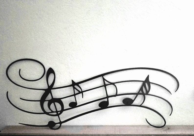 Music Notes Metal Wall Art Musician Gifts Play Musician Wall Etsy
