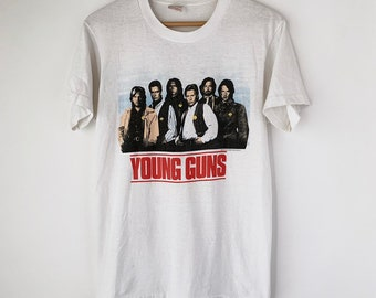 buy popular 645c3 b81d7 1988 Young Guns Vintage Movie Promo Tee Shirt 80s 1980s RARE Western Cowboy