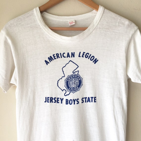 """Vintage 1950s Russell Tag """"American Legion Jersey"""