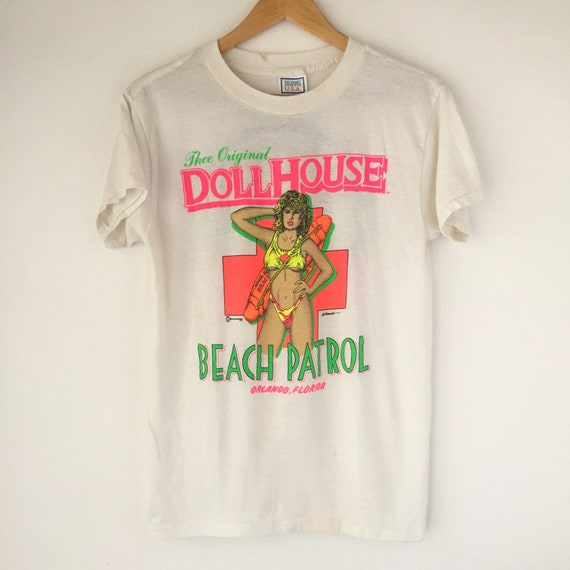 Vintage 1990 Dollhouse Beach Patrol Orlando Florida Tee Shirt Etsy