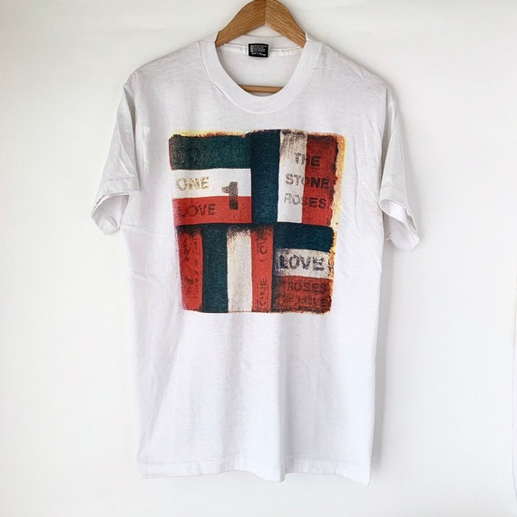 """1990 Stone Roses """"One Love"""" Vintage Tour Band Shir"""
