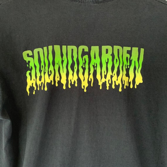 1991 Soundgarden Vintage Tour Band Rock Tee Shirt… - image 4