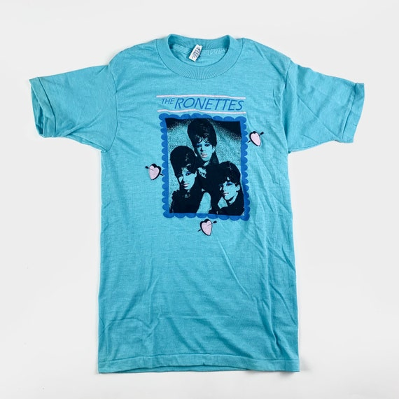 1980s The Ronettes Vintage Band Tour Shirt 80s 198
