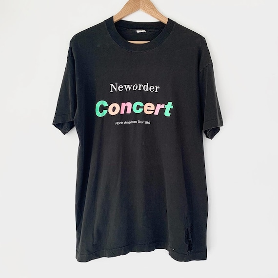 1989 New Order Vintage Tour Band New Wave Tee Shir