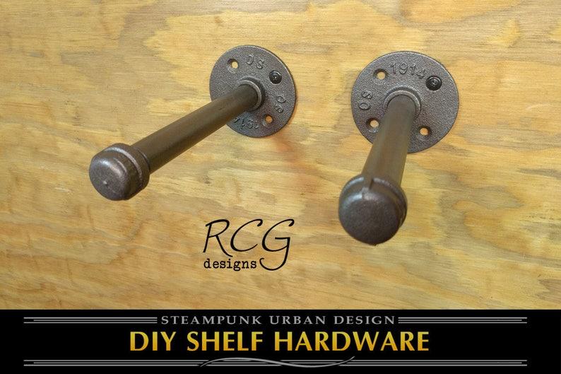 DIY 6 Pair Floating Shelf Brackets w/Mounting Screws & image 0