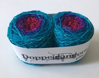 9f513683e4713 Doppelgängers - Blue Razzleberry - Hand Dyed Matching Sock Yarn - SW Merino  Wool/Nylon (80/20) Fingering/Sock Weight