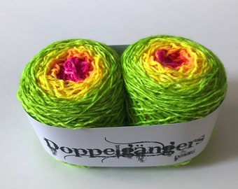 2afcdda69268d Doppelgängers - Neon Sunset - Hand Dyed Matching Sock Yarn - SW Merino Wool/Nylon  (80/20) Fingering/Sock Weight