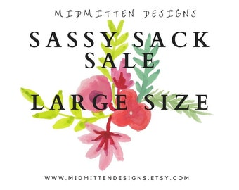 Sassy Sale Sale - Large; canvas drawstring project bag