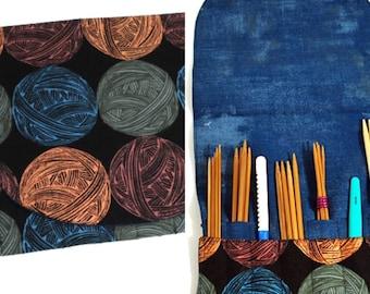 Purl DPN/Interchangeable Crochet Hook organizer, knitting needle storage, crochet hook storage