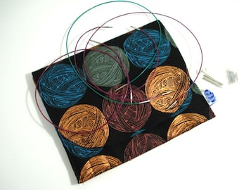 Purl Interchangeable Knitting Needle organizer, knitting needle storage,