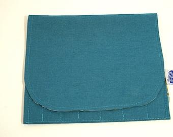 Interchangeable Needlekeeper- Teal; interchangeable storage, knitting needle storage