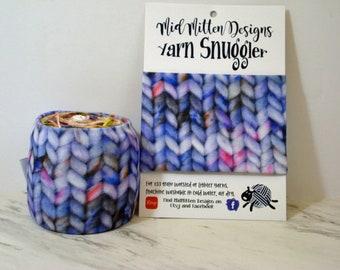 Lavender Speckled Yarn Snuggler©, Yarn Hugger, Yarn Wrap, Yarn Coat, Skein Coat, Knitting Notion, Crochet Notion, Yarn Storage