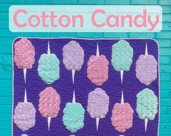 PDF Cotton Candy Quilt Pattern Digital Download by Slice of Pi Quilts