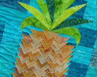 PDF Pineapple Twist Quilt Pattern Digital Download by Slice of Pi Quilts [3d texture quilt, prairie points]