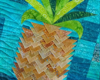 PAPER Pineapple Twist Quilt Pattern by Slice of Pi Quilts [3d texture quilt, prairie points]