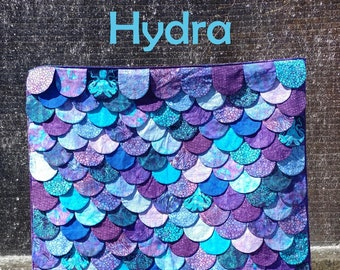 PDF Hydra Quilt Pattern Digital Download by Slice of Pi Quilts [Mermaid, dragon, lizard, shark, fish scales quilt!]