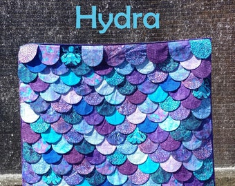 PAPER Hydra Quilt Pattern by Slice of Pi Quilts [Mermaid, dragon, lizard, shark, fish scales quilt!]