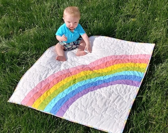 PAPER Bundle of Joy Quilt Pattern by Slice of Pi Quilts [Rainbow baby quilt patttern, includes baby and NICU sizes]