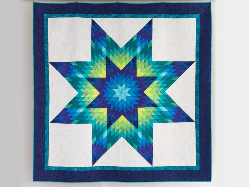 PDF Glowing Lone Star Quilt Pattern Digital Download by Slice image 0