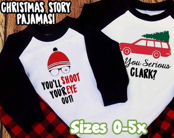 family pajamas a christmas story custom jammies matching serious clark kids adult holiday plus size ya filthy animal plaid shitters full - Etsy Christmas Pajamas