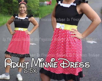 003f57181 Adult Size Mommy Disney Princess Dress Minnie Mouse Mommy and Me Matching  Family Disneyworld Cruise Disneybounding cosplay Plus size Costume
