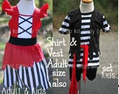 Birthday Pirate Princess Dress Costume Knit Soft Pirate Boy Mommy Me Disney Cruise Boutique Disneyworld Name Personalized Custom Birthday