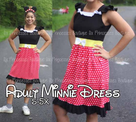 Adult Size Mommy Disney Princess Dress Minnie Mouse Mommy and Me Matching  Family Disneyworld Cruise Disneybounding cosplay Plus size Costume
