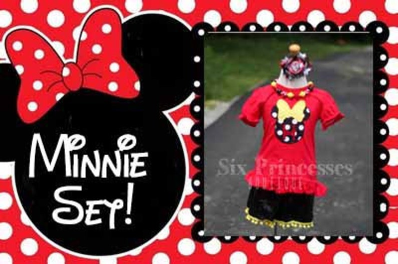 Minnie Mouse Shorts /& Top SET Custom Boutique Personalized Name Sequin Bling Birthday First Second Leopard Five Disney Party Set Tee Shirt