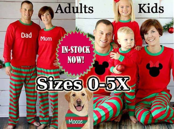 Family Pajamas RUSH Available Sleepwear Kids Adult  4508fce19