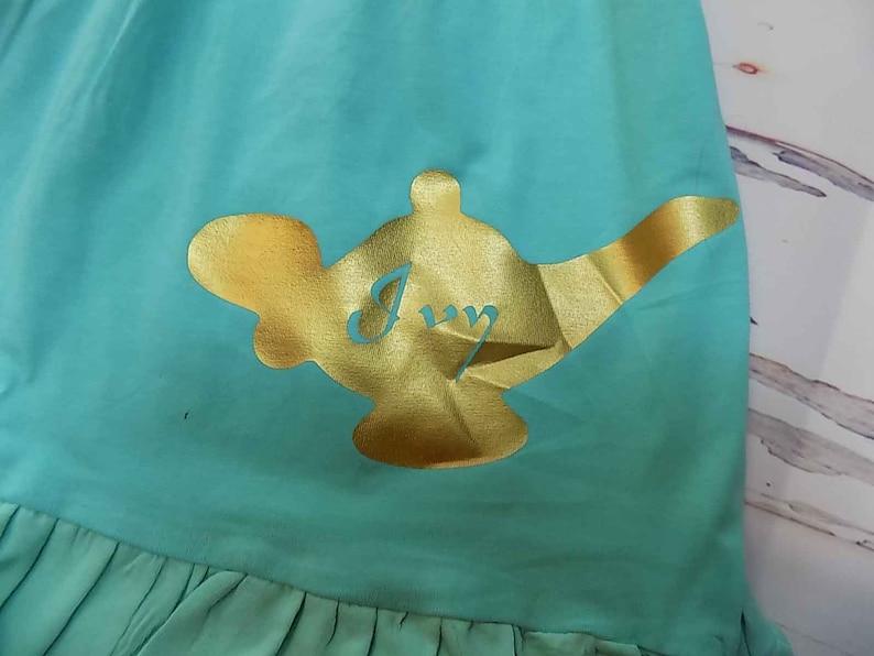 Birthday Princess Dress Jasmine Aladdin Girls Party Knit Disney Cruise Boutique Monogrammed Name Personalized Custom Monogram First