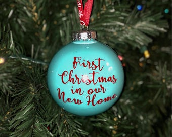 First Christmas in Our New Home Personalized Christmas Ornaments