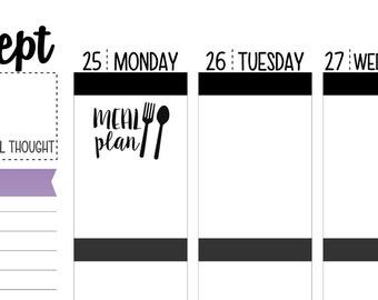 Meal Plan Planner Stickers