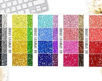 Glitter Headers Planner Stickers