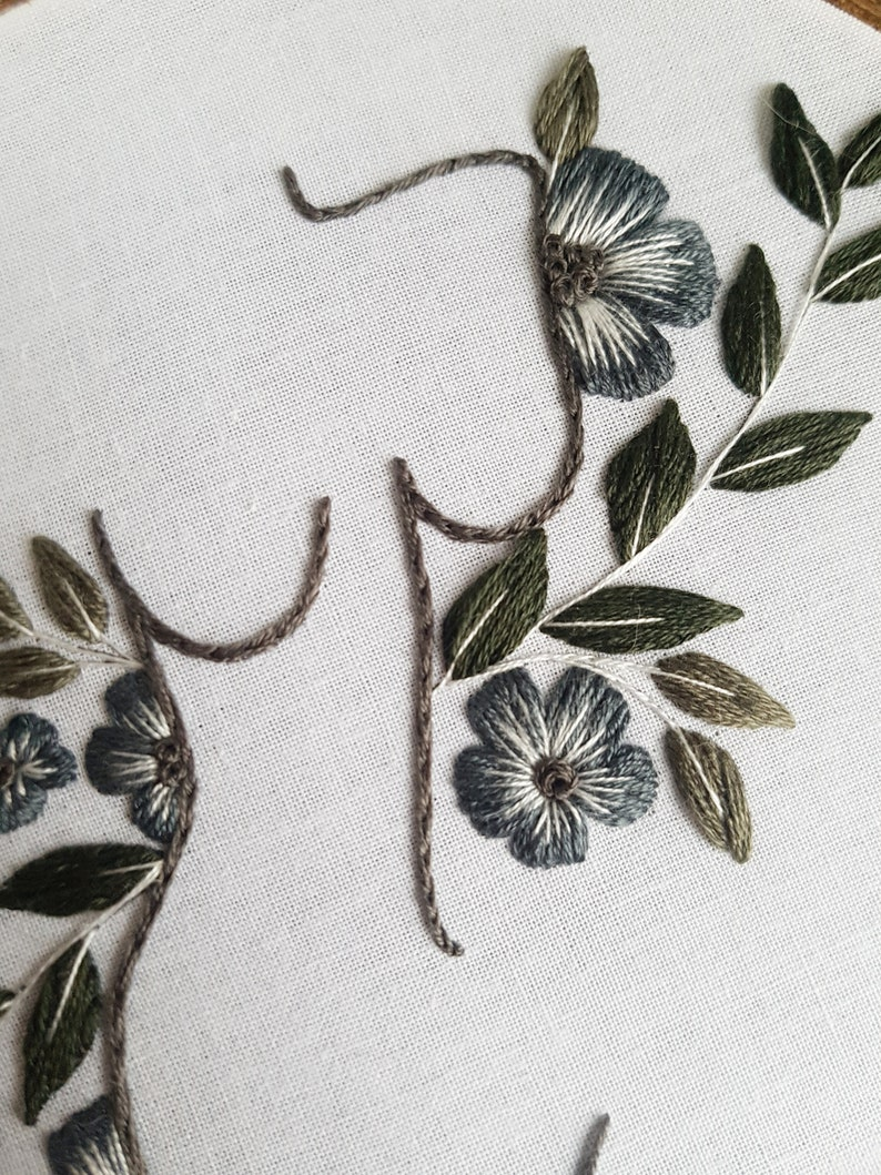 beginner embroidery kit  floral babe  feminine embroidery