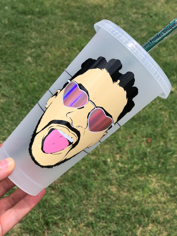Crystal Starbucks Cup BAD BUNNY YHLQMDLG Starbucks Cup Personalized Starbucks Cup Bad Bunny Conejo Malo
