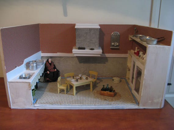 For sale vintage dollhouse kitchen with attributes and a farmhouse  30\u0027s