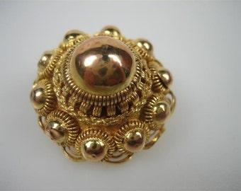 C.1890 antique gold 14k. brooch...