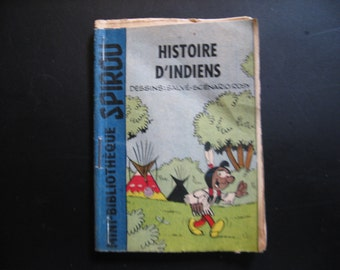 An old mini booklet: Histoire D'Indiens ... 1960