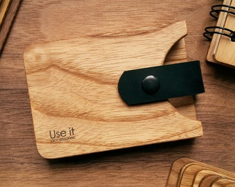 Wooden card holder, Business card holder, Wooden cardholder, Wooden card case, Gift for Boss, Gift for Boyfriend, Handmade Gift