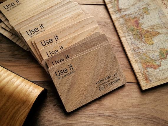 Holz Visitenkarten Holzkarte Visitenkarte Holz Tags Zweiseitige Druck