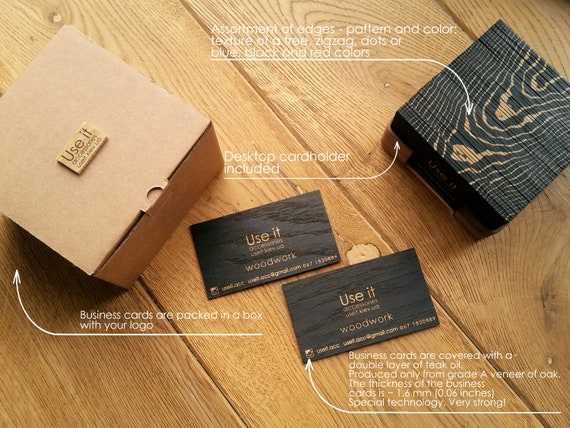Wooden Business Cards Wooden Card Business Card Wooden Tags Black Oak Set Of 50 Wooden Cards